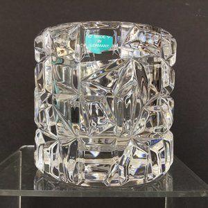 "Tiffany & Co Crystal Sierra Candle Holder 3 1/4"""